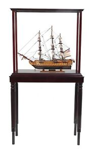 Uss Constitution Old Ironsides Tall Ship 22 5 Wood Model With Display Assembled