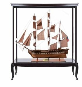 Uss Constitution Old Ironsides Tall Ship 59 Wood Model With Display Assembled