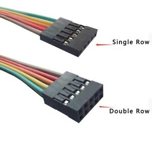 Single double Row Dupont 2 54mm Rainbow Cable Ribbon Jumper Wire Female female