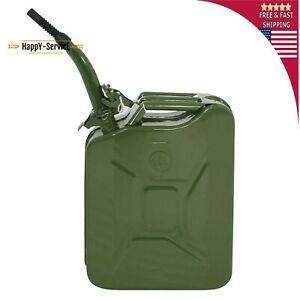 5 Gallon 20 Liter Nato Style Jerry Can Gasoline Fuel Backup With Flexible Spout