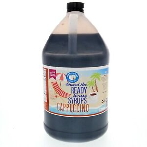 Hawaiian Shaved Ice Or Snow Cone Syrup Ready To Use Cappuccino 128 Fl Oz