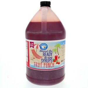 Hawaiian Shaved Ice Or Snow Cone Syrup Ready To Use Fruit Punch 128 Fl Oz
