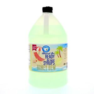 Honey Dew Ready To Use Shaved Ice Or Sno Cone Syrup Gallon 128 Fl Oz
