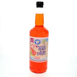Snow Cone Or Hawaiian Shaved Ice Flavored Syrup Guava Quart 32 Fl Oz
