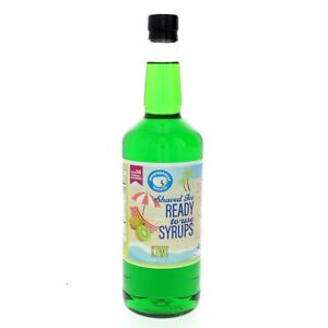 Hawaiian Shaved Ice Or Snow Cone Syrup Kiwi Flavor Ready To Use Quart Size