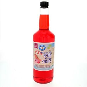 Hawaiian Shaved Ice Syrup Or Snow Cone Pink Bubble Gum Ready To Use Quart