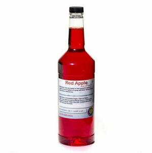 Red Apple Ready To Use Shaved Ice Or Sno Cone Syrup Quart 32 Fl Oz