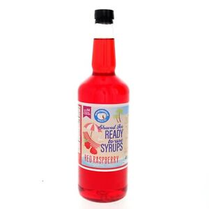 Hawaiian Shaved Ice Or Snow Cone Syrup Ready To Use Red Raspberry Quart Size