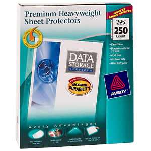 250 Avery Sheet Page Protectors Clear Heavy Duty 8 5 X 11 Top Load Documents