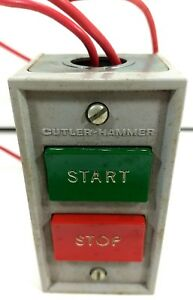 Cutler Hammer 10250h5200 Start Stop Pushbutton Control Station Push Button
