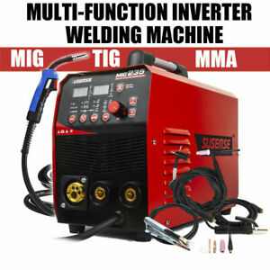 Mig 220v 200amp Welder Inverter Mig Welding Machine Stick Mma Tig 3in1 torch