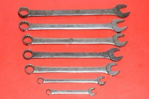Rare Collectors Vintage 1940 1947 Blue Point Snap On Combination Wrenches