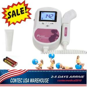 Baby Sound C Fetal Doppler 3mhz Probe Fetal Heartrate Pregnancy Monitor Lcd Fda