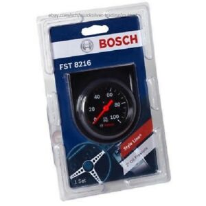 Bosch Style Line 2 Mechanical Oil Pressure Gauge Black Fst8216
