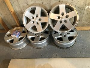 Factory Used Jeep Wrangler 17 2007 2015 Silver Wheels Rims Outright Sale
