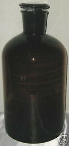 Glass Amber Lab Reagent Bottle Narrow Mouth 10l Dark Color New