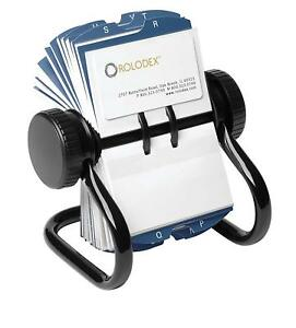 Open Rotary Business Card File With 200 2 5 8 By 4 Inch Card Sleeve And 24 Guide