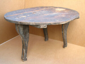 Antique Wooden Three Legged Repast Dinning Table 19th Authentic Ottoman Empire