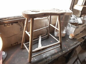 Farmhouse Decor Primitive Antique Saddle Maker Bench Horse Barn Tool Incomplete