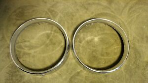 2 Left Hand 1968 Mercury Monterey Headlight Rings Trim Mount C6mb13064