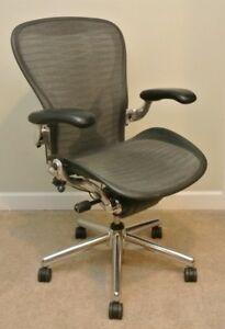 Herman Miller Aeron Chair Size C Polished Aluminum Rare