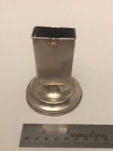 Herbst Wassal Antique Sterling Silver 512 Match Box Holder Ashtray 193 Grams