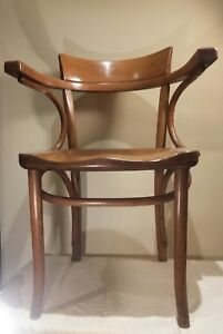 Rare Vintage Thonet Bentwood Chair Mid Century Armchair Trinity College