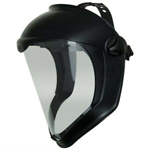 Safety Face Shield Clear Polycarbonate Visor Anti fog Hard Coat Headgear Adjust