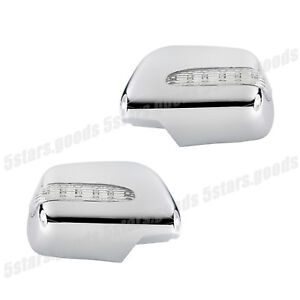 Turn Signal Led Chrome Mirror Covers Molding Trims For 2004 2006 Lexus Rx330 Suv