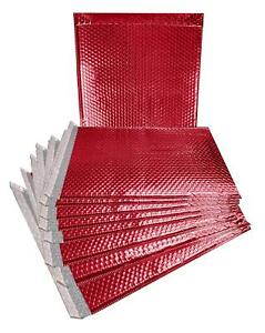 10 Pack Metallic Bubble Mailers 15x17 Red Padded Envelopes 15 X 17 Xxl Large Bag