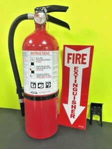 Fire Extinguisher kidde 5lb Non Rechargeable 3a 40b c W Bracket