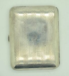 Art Deco Elgin Am Mfg Co 925 Sterling Silver Cigarette Vesta Cases