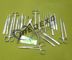 Micro Surgery Surgical Veterinary Dental Instruments Student Set Of 78 Pcs