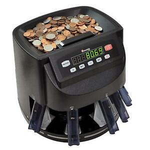 American Usa Coin Sorter Wrapper Counter Digital Machine Business Change Money