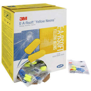 3m Ear Plugs 33db Foam Disposable Corded Ear Plugs pk 200 Pairs