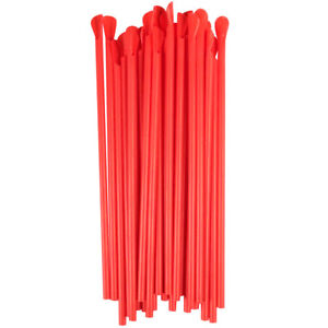 5400 case 10 1 4 Jumbo Red Long Large Spoon Unwrapped Slushie Snow Cone Straw