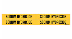 Brady 7263 4 90270 Yellow Vinyl Stickers Pipe Marker Sodium Hydroxide 50 Cards
