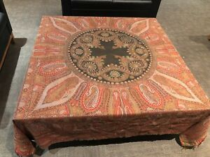 Antique Kashmir Paisley Shawl Rare Fine Intricacies 19th C 76 X 73