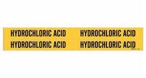 Brady 7156 4 79244 Yellow Vinyl Stickers Pipe Marker Hydrochloric Acid 50 Pack