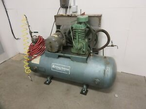 Kellogg American 5hp Air Compressor 120 Gallon Horz Tank Single Stage 110 Psi