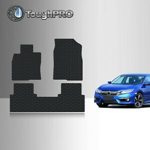 Toughpro Heavy Duty Black Rubber Fit For 2016 2020 Honda Civic Floor Mats
