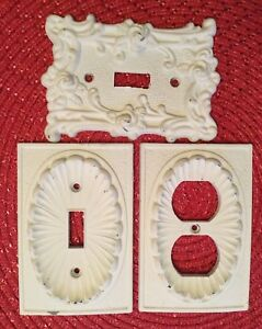 Lot 3 Vintage Switch Plate Outlet Cover 1967 1974 American Tack Howe Co