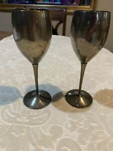 Vintage De Uberti Silver Plated Wine Water Goblets Set Of 2