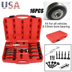 16pc Inner Bearing Races Blind Hole Gear Bushes Extractor Puller Separator Set