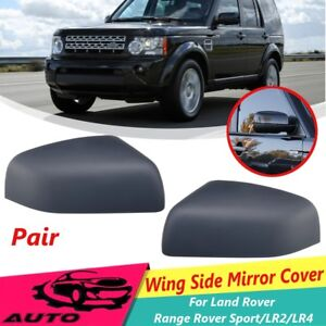 Pair Wing Side Mirror Cover Covers Caps For Land Rover Range Rover Sport Lr2 Lr4