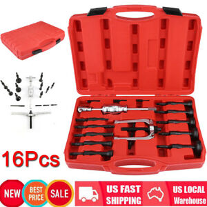 16pc Slide Hammer Blind Hole Pilot Bearing Puller Internal Extractor Remover Set