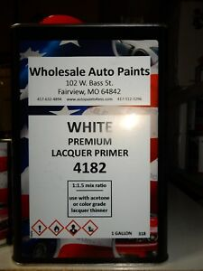 High Build Premium Acrylic Lacquer Primer White Gallon Fast Dry easy Sanding 1k