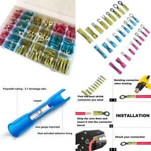 540 Pcs Heat Shrink Wire Connectors Kit Marine Automotive Electrical Insulated