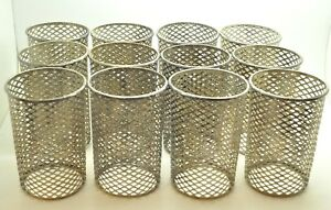 Antiques 925 Sterling Silver Cover For Glass Cups Set Of 12