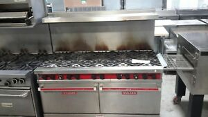 Used Nat Gas 60 Vulcan Range With 10 Burners And 2 Standard Ovens